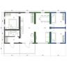 Modulaire maison 5 pièces plan d'étage