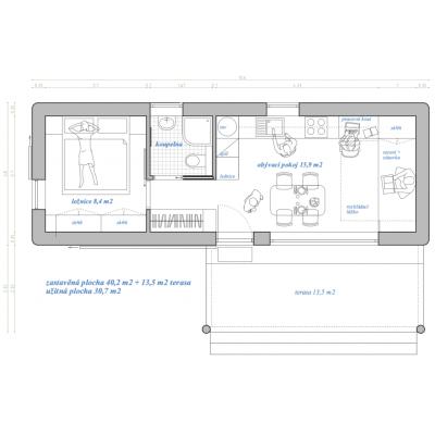 Maison modulaire 2 pièces