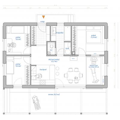 Maison modulaire 4 pièces